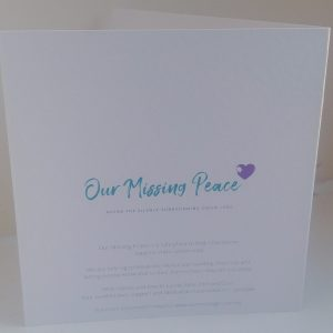 Our Missing Peace Greetings Card